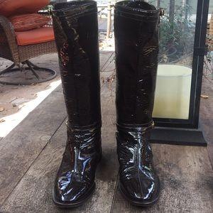 Jimmy Choo patent boots size 391/2